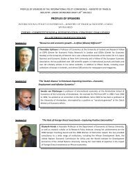 PROFILES OF SPEAKERS - unido