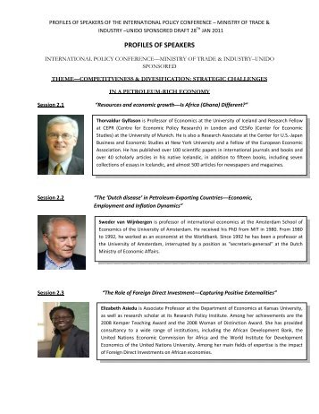 PROFILES OF SPEAKERS - unido