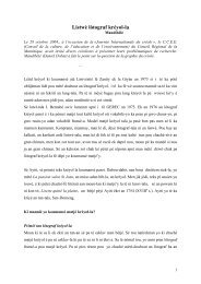 Listwè lòtograf kréyol-la - Manioc