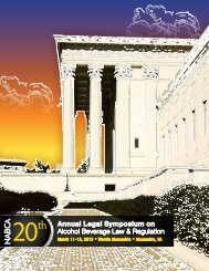 Annual Legal Symposium on Alcohol Beverage Law ... - nabca
