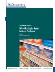 Why Charity In Retail Is Good Business - IHL Group