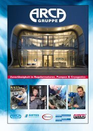 tionen über die ARCA Flow Gruppe! - Arca-Regler GmbH
