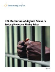 U.S. Detention of Asylum Seekers - Refugee Council USA
