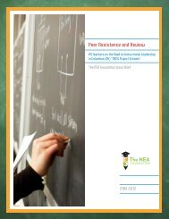 Peer Assistance and Review Issue Brief - The NEA Foundation