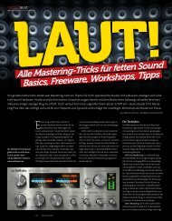 Laut - Mastering Tricks für fette Sounds - BEAT 02 ... - marco scherer