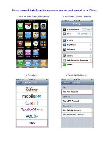 iPhone - Email Set-up - HTC