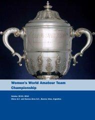 Women's World Amateur Team Championship - USGA