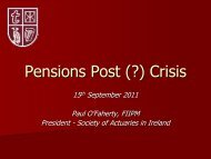 Pensions Post (?) Crisis, Paul O Faherty - IIPM