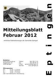 Mitteilungsblatt für den Monat Februar 2012 - Eptingen
