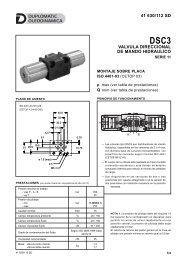 41 630/112 sd valvula direccional de mando hidraulico - Duplomatic