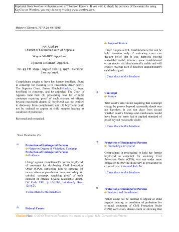 Mabry v. Demery - Law Clinics