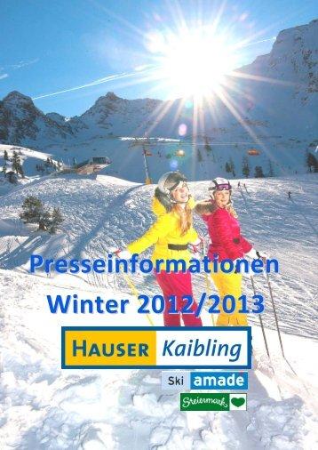 Presseinformationen Winter 2012/2013 - Hauser Kaibling
