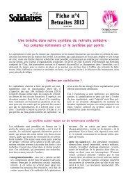 Comptes Notionnels et Système par Points - Solidaires