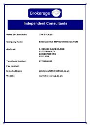 Independent Consultants - Leicestershire County Council