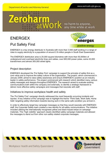 Put Safety First – Energex
