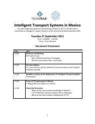 Intelligent Transport Systems in Mexico - IRF | International Road ...