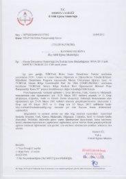 Yazı ve Ekleri. - Mersin İl Milli Eğitim Müdürlüğü - Milli Eğitim Bakanlığı