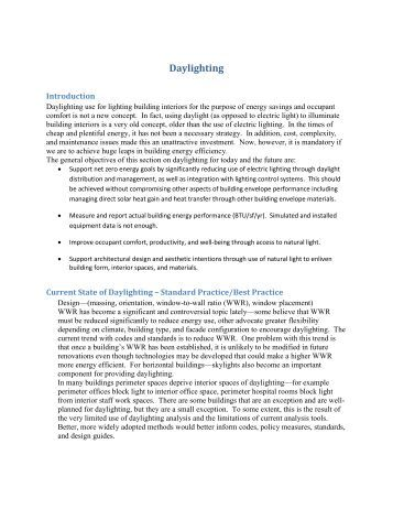 to check out the daylighting report - Illuminating Engineering Society
