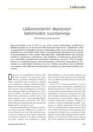 Lääkeresistentin depression lääkehoidon ... - Terveyskirjasto