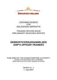 Uddannelsesbog for skibsofficersstuderende - Søfartsstyrelsen