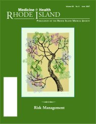 June, No.6 - Rhode Island Medical Society