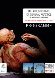 Final Programme - WONCA Europe 2012