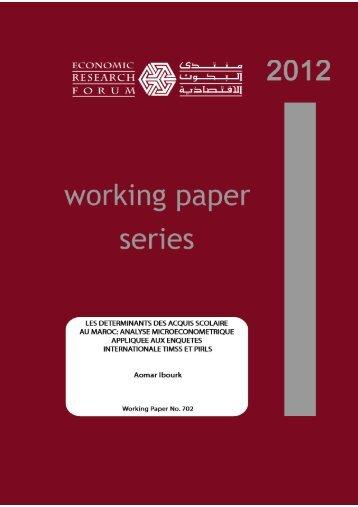 les determinants des acquis scolaire au maroc: analyse ...