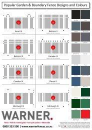 styles & colours - Warner Fences