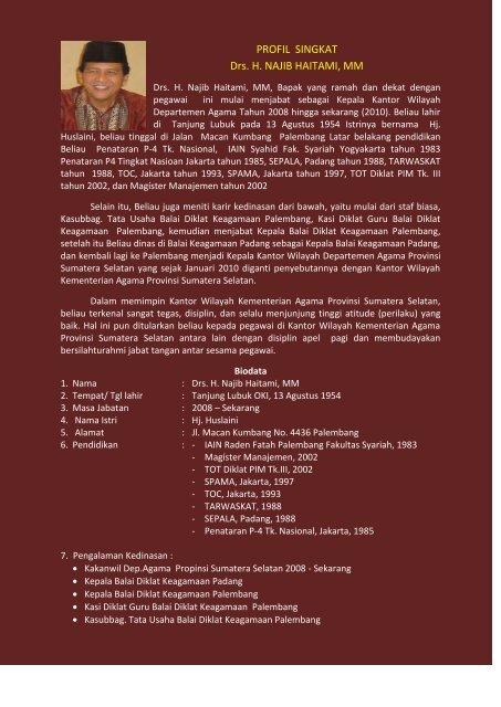 PROFIL SINGKAT Drs. H. NAJIB HAITAMI, MM - Kemenag Sumsel