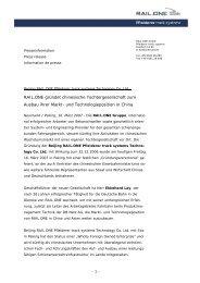 Zur sofortigen Veröffentlichung - RAIL.ONE GmbH