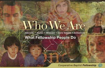 Who We Are - Cooperative Baptist Fellowship
