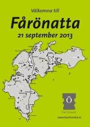 21 september 2013 - Fårö Framtid