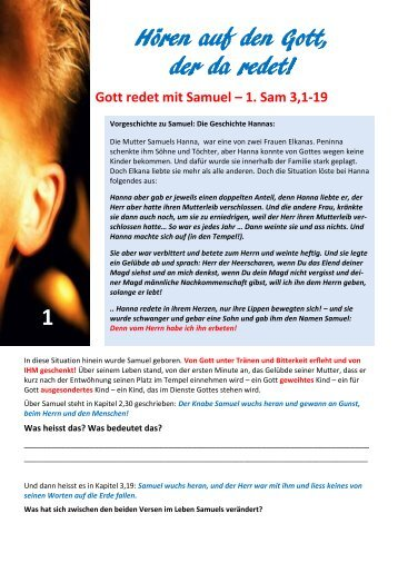 Hören auf den Gott, der da redet! 1 1