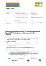 Europe Notes - International Unit