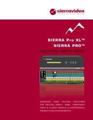 SIERRA Pro XL™ SIERRA PRO™ ROUTING ... - Full Compass