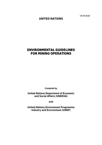 environmental guidelines for mining operations - CommDev