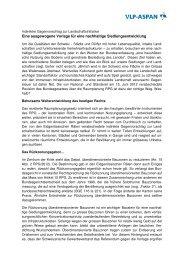 Argumentarium der VLP-ASPAN