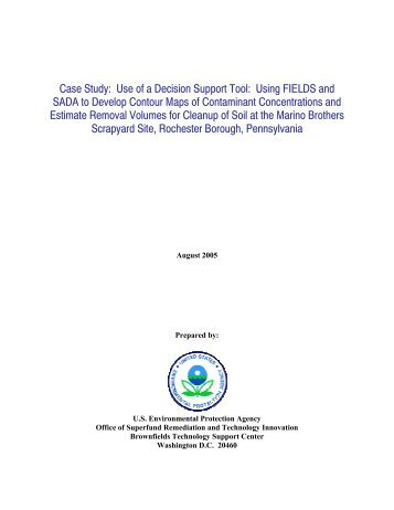 Use of a Decision Support Tool - Federal Remediation Technologies ...