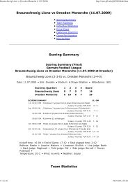 Braunschweig Lions vs Dresden Monarchs ... - NewYorker Lions