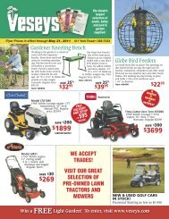 save 20% on all earthway spreaders! - Veseys Equipment