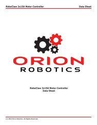 Data Sheet - Orion Robotics