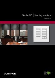 Sivoia QS 2010 - Lutron Lighting Installation Specialists
