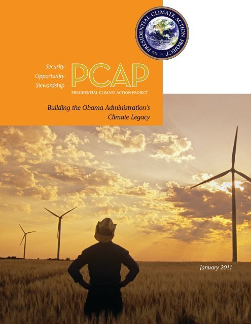 The 2011 Plan - Presidential Climate Action Project