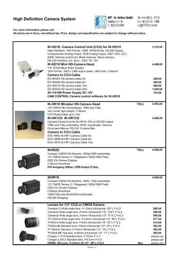 High Definition Camera System