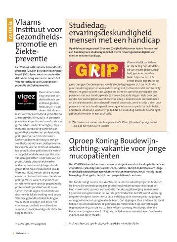 Vlaams Instituut voor Gezondheids- promotie en Ziekte ... - Weliswaar
