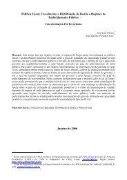 Política Fiscal, Crescimento e Distribuição de Renda e Regimes de ...