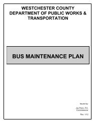 BUS MAINTENANCE PLAN - Westchester County Government