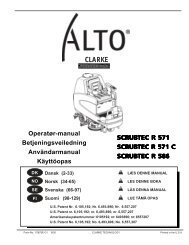 Operatør-manual Betjeningsveiledning ... - Nilfisk-Advance