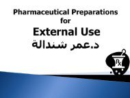 Pharmaceutical Preparations for External Use
