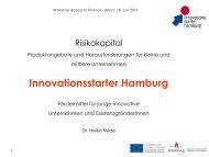 Risikokapital - Produktangebote und Herausforderungen für kleine ...